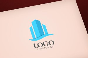 Building concept vector logo design