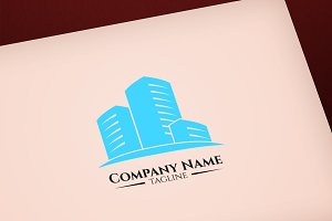 Building vector logo design template