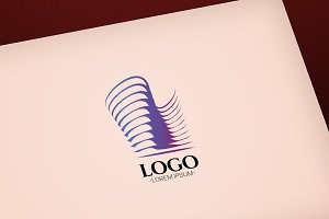 Modern Abstract Building vector logo