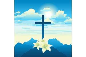 Easter illustration. Greeting card