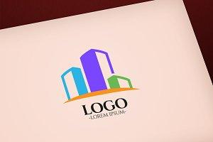 Modern Flat Building vector logo