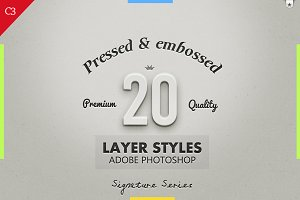 20 Best Pressed & Embossed Styles