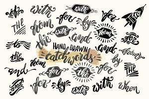 Vector Hand Drawn Catchwords