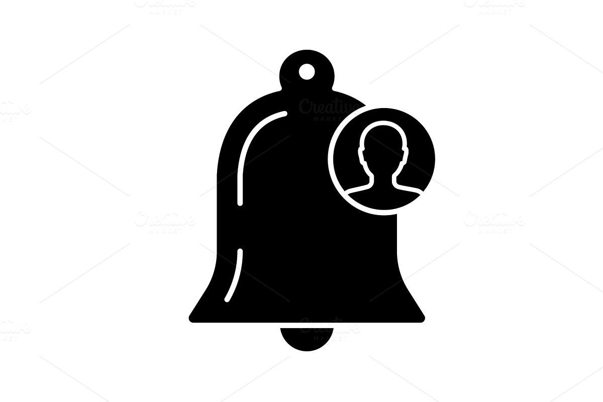 Customer notification glyph icon