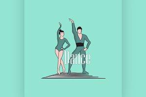 Dancing Logo Symbol