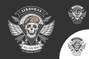 Airborne vector emblem