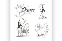 Set of dancing emblems