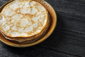 Traditional thin pancakes for pancak