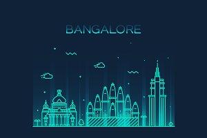 Bangalore skyline (India)