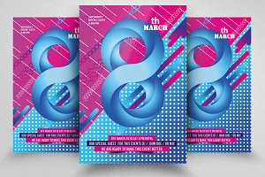 Women's Day Psd Flyers Template
