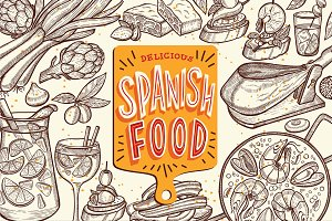 Spanish Food Illustrations