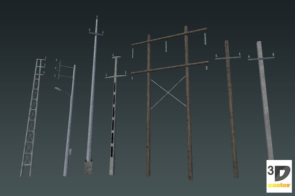 3D Urban: 3DCaster - Electric Poles