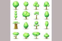Set of geometrical trees.