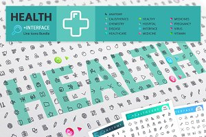 Health 700+ Line Icons Bundle