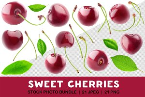 Isolated cherries collection