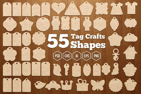 Shapes: G7 - 55 Tag Crafts Shapes