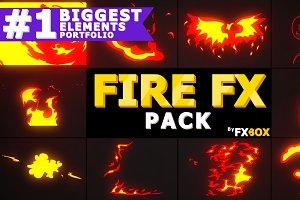 2D FX Fire Elements Motion Graphics