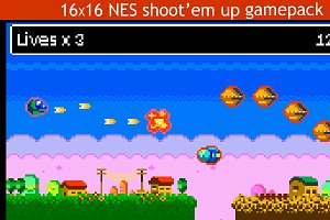 16x16 Nes shoot them up gamepack