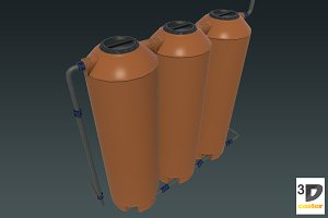 Laboratory Liquid Tank + Pipes Set