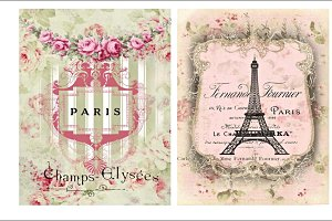 Paris Pour Les Amis Collage Sheet