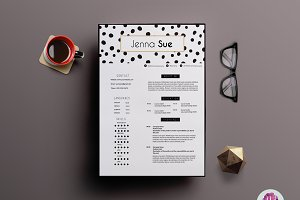 Creative 2 page CV template