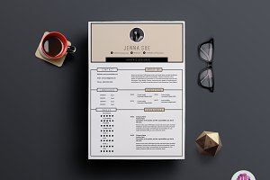 Elegant 2 page resume template