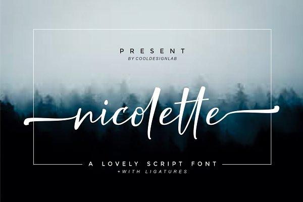 Script Fonts: cooldesignlab - Nicolette Script