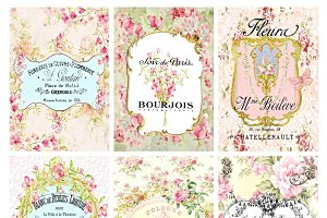 Paris Labels Collage Sheet