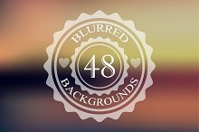 48 colorfull blurred backgrounds