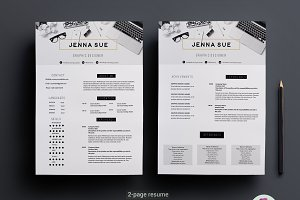 Modern 2 page CV template