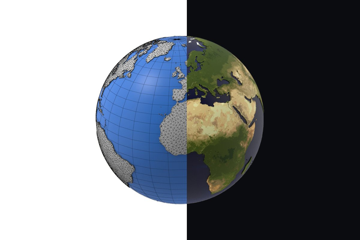 Earth detailed design 3D model