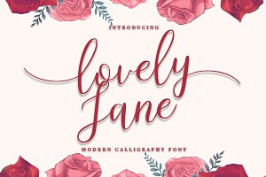 lovely Jane||Modern calligraphy font