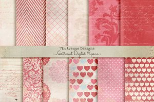 Sweetheart Digital Papers