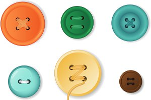 Clothing Buttons Set