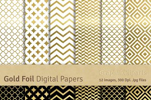 Gold Foil Digital Papers