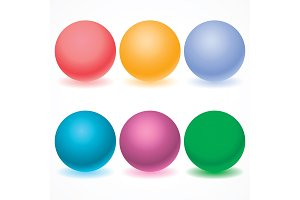 Set of multicolored spheres with