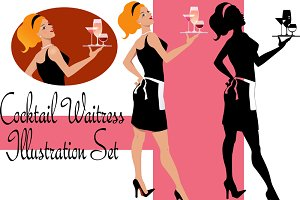 Cocktail Waitress Designer Set
