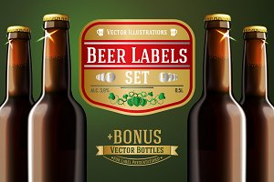 Vector Set - Beer labels + Bonus