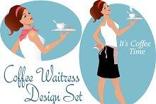 Cafe Waitress Design Set