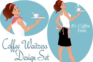 Cafe Waitress Design Set