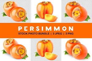 Persimmon fruits isolated