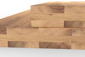 Glued wood structure. Lumber