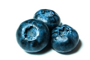 Fresh great bilberries isolated