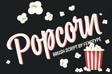 Popcorn Brush Script by  in Script Fonts