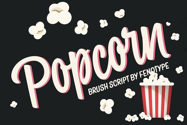 Script Fonts: Fenotype - Popcorn Brush Script