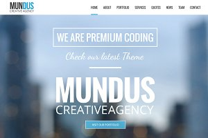 Mundus - Business One Page Wordpress
