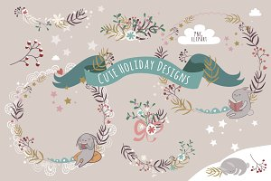 Cute Holiday Designs/PNG clipart/
