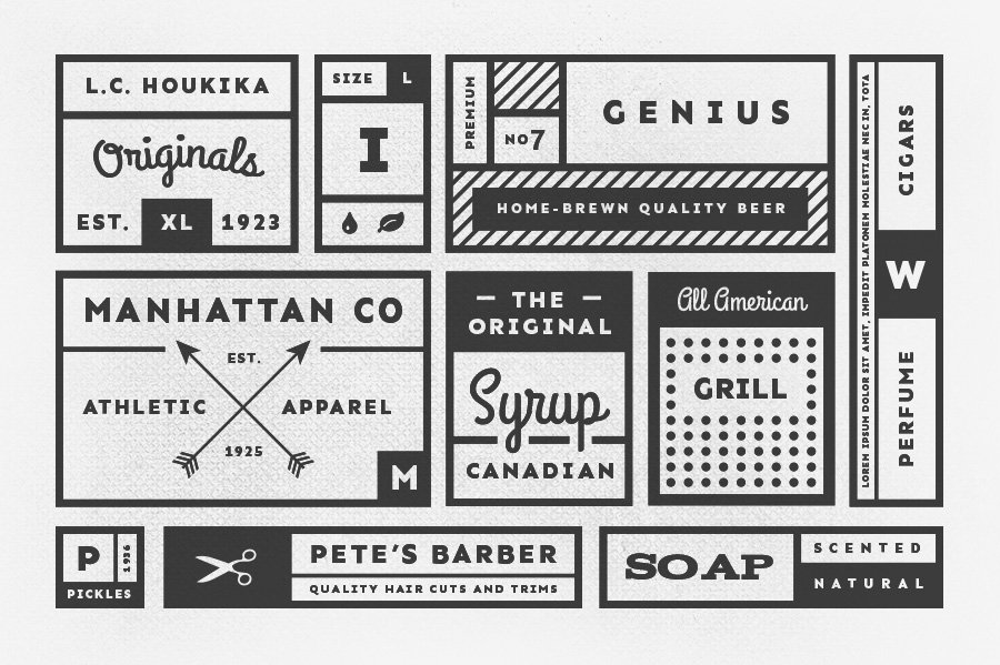 34 Vintage Labels Graphic Objects Creative Market