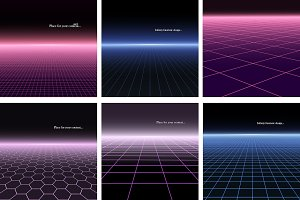 Digital backgrounds with perspective