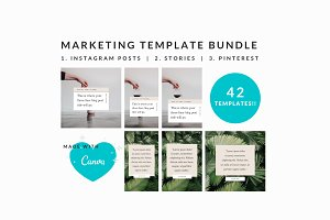 Marketing Template Bundle | Canva